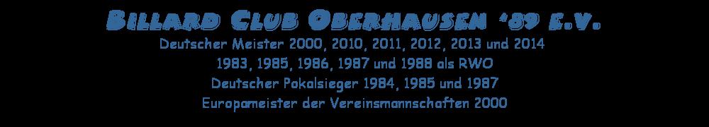 Billard Club Oberhausen